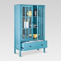 Tall cabinet Repurpose - Windham Tall Storage Cabinet with Drawer Teal (Blue) Threshold. Storage Cabinet With Drawers, Storage Cabinets, Cabinet Doors, Locker Storage, Tall Bathroom Storage Cabinet, Diy Locker, Drawer Shelves, Display Cabinets, Storage Shelves