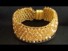 Beaded Jewelry Designs, Bead Jewellery, Beaded Bracelet Patterns, Jewelry Patterns, Bracelet Tutorial, Diy Necklace, Crystal Bracelets, Bracelets, Ear Rings