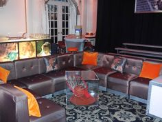 sports theme lounge for bar mitzvah lounge cabanas pinterest