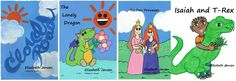 New banner for facebook featuring children's books cover art.