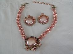Vintage Necklace & Clip On Earrings set $18 shipped