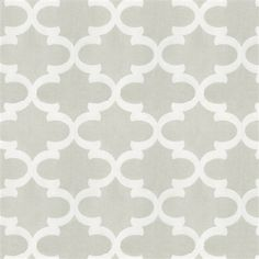 French Gray Quatrefoil Fabric By The Yard