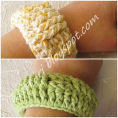 crocheted bracelet....