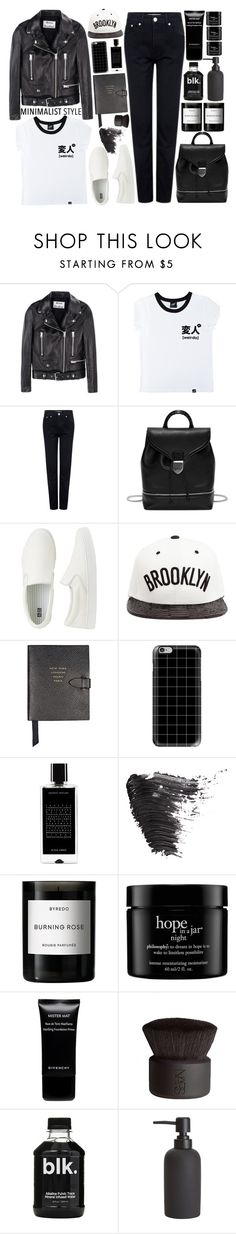 """""""Casual Minimalist"""" by citresque ❤ liked on Polyvore featuring Acne Studios, Illustrated People, Être Cécile, Alexander McQueen, Uniqlo, JUST DON, Smythson, Casetify, Agonist and Topshop"""