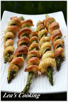 Lea's Cooking: Asparagus Wrapped in Pastry Puff