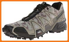 salomon men's speedcross 3 trail running shoe camo iron