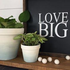 DIY Watercolor Plant Pots
