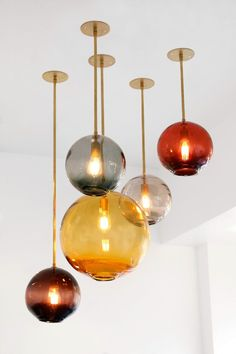 Handmade blown #glass pendant lamp Float Collection by SkLO   #design Karen Gilbert, Paul Pavlak @sklostudio