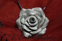 Rosa amb argila polimérica platejada
