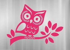 Owl on branch vinyl sticker decal car truck SUV wall hoot wise cute night tree #VinylMayhem