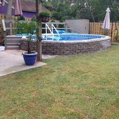 This Aquasport 52 is installed in Carolina Beach Above Ground Pool Landscaping, Swimming Pool Landscaping, Backyard Landscaping, Semi Above Ground Pool, In Ground Pools, Diy Pool, Pool Spa, Semi Inground Pools, Indoor Pools