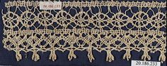 Edging Date: 16th century Culture: Italian, Venice Medium: Bobbin lace Dimensions: L. 6 3/4 x W. 2 1/2 inches 17.1 x 6.4 cm Classification: Textiles-Laces Credit Line: Rogers Fund, 1920 Accession Number: 20.186.233