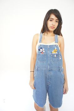 90s Dungares Mickey Mouse Overalls Denim Disney by yokovintage, $32.99