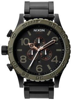 Green and Black Watch | Nixon The 51-30 Chrono Watch - Matte Black/Industrial Green | KJ Beckett