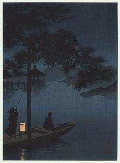 Lake Biwa (Blue) by Shoda Koho (1871 - 1946)