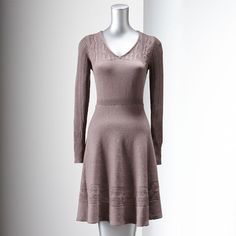 Vera Wang sweater dress in Rose Brown Heather.