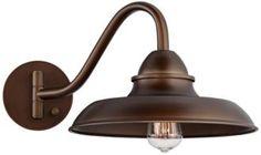 "Bowdon Bronze 10"" High Plug-In Edison Sconce (9C389)"