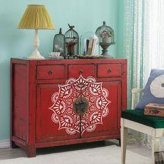 Stencil furniture - Refinishing furniture - Furniture - Upcycle dresser - Furniture update - F Dresser Furniture, Furniture Update, Paint Furniture, Furniture Makeover, Furniture Buyers, Furniture Refinishing, Furniture Design, Decorating Your Home, Diy Home Decor