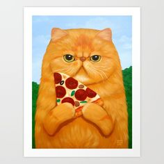Collect your choice of gallery quality Giclée, or fine art prints custom trimmed by hand in a variety of sizes with a white border for framing. I Love Cats, Crazy Cats, Cool Cats, Animals And Pets, Cute Animals, Cat Drawing, Dog Art, Cute Art, Cats And Kittens