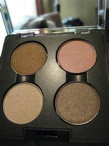 MAC eye palette, vanilla, brulee, brun, black tied.  $53