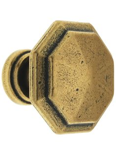 Small Octagonal Cabinet Knob with Choice Of Finish|House of Antique Hardware