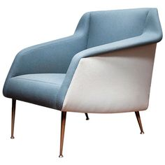 Model no. 802 Lounge Chair by Carlo De Carli Model no. 802 Upholstered Lounge Chair by Carlo De Carli, Italy 1954, manufactured by Cassina for Singer & Sons| From a unique collection of antique and modern lounge chairs at http://www.1stdibs.com/furniture/seating/lounge-chairs/