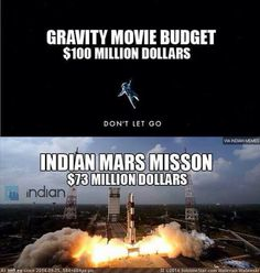 It's funny how a space mission is cheaper than a movie!