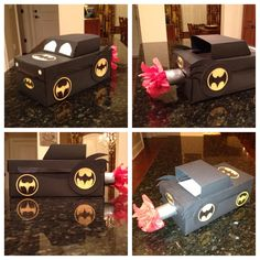 pinterest  valetine boxes crafts | Actually completed a Pinterest craft! Batmobile Valentine Box for my ...