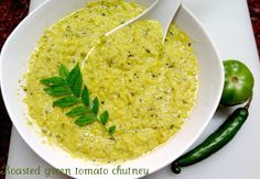 Your Everyday Cook: Roasted green tomatoes chutney