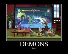 Blue Exorcist ~~ Mephisto and Amaimon have mad gaming skills. Too bad Amaimon tends to eat the controllers... according to the manga.