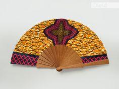 Eventail Espagnol wax africain par Olele  #eventail, #espagnol, #olele, #africain, #pagne