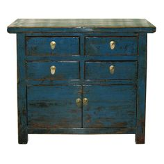 Blue Gansu Chest