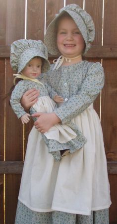 Amish DRESS APRON Bonnet Sewing Pattern Little House On The