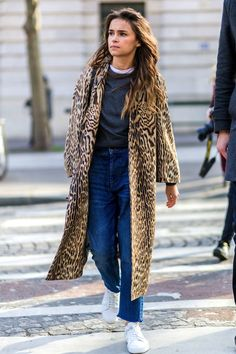 Street Style: How To Wear An Animal Print Coat