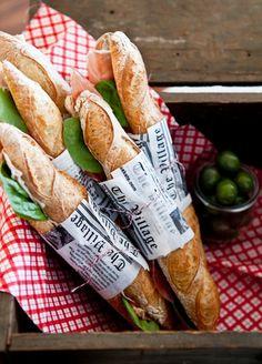 baguette sandwiches.
