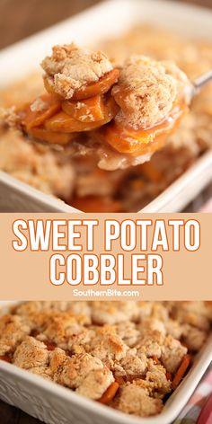 Sweet Potato Cobbler, Sweet Potato Cookies, Sweet Potato Dessert, Sweet Potato Souffle, Sweet Potato Casserole, Sweet Potato Recipes, Casserole Dishes, Veggie Recipes, Casserole Recipes