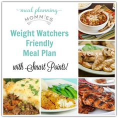 This is a new dinner meal plan that uses Weight Watcher recipes with SmartPoints! Plus FREE Printable grocery list and meal plan!