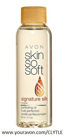 Skin So Soft Signature Silk Perfecting Oil $11.SKIN SO SOFT Signature Silk - boosts radiance and instantly illuminates skin with Argan Oil. Scented with peony and soft musk. Skin looks and feels more elastic, smoother and softer. Targets discolorations, scars, uneven tone and stretch marks.