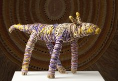 Central Desert Fibre Woven sculpture and baskets by Tjanpi Desert Weavers are made from desert grass (tjanpi), wool, raffia . Textile Sculpture, Soft Sculpture, Australian Animals, Australian Art, E Craft, Textiles, Aboriginal Art, Animal Sculptures, Art Of Living