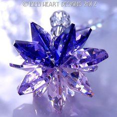 m/w Swarovski Crystal Blue Violet Purple by LilliHeartDesigns