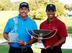 Phil Mickelson and Tiger Woods with their respective Tour Championship and Fed Ex Cup trophies     Our Residential Golf Lessons are for beginners,Intermediate & advanced . Our PGA professionals teach all our courses in a incredibly easy way to learn and offers lasting results at Golf School GB www.residentialgolflessons.com