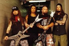 Dimebag Darrell, Tom Araya, Kerry King and Phil Anselmo