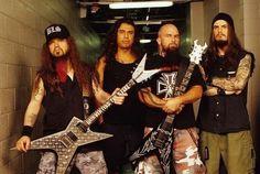 Dimebag Darrell, Tom Araya, Kerry King and Phil Anselmo