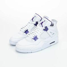 Now Available: Air Jordan 4 Retro Metallic Purple Jordan Shoes Girls, Girls Shoes, Baby Shoes, Best Sneakers, Sneakers Fashion, Shoes Sneakers, Jordan Sneakers, Cute Jordans, Air Jordans