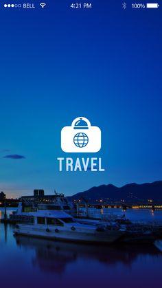 Travel App Designs  Splash Screen Visit Us : www.techleos.com
