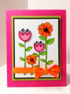 Karen's Kraft Room: Little Flower Garden with Copics