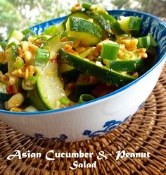 Asian Cucumber & Peanut Salad is crunchy and has a little kick of heat.