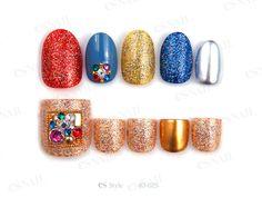 nail idea. Es Nails, Nail Set, Toe Nail Art, Mani Pedi, Nail Designs, Pedicures, Color, Makeup, Christmas