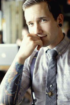 Tattooed Gentleman #tatts #inked #tattoo (love him & his GF!)