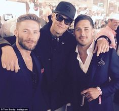 Brady, who was a star player at the University of Michigan, also shared a snap of himself alongside teammates Julian Edelman and Danny Amendola on 5 May 2017